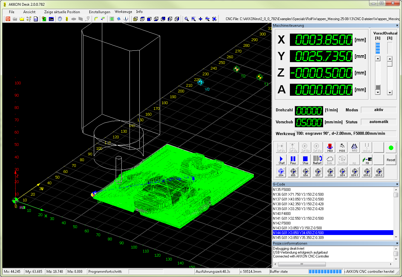 AKKONDesk CNC software