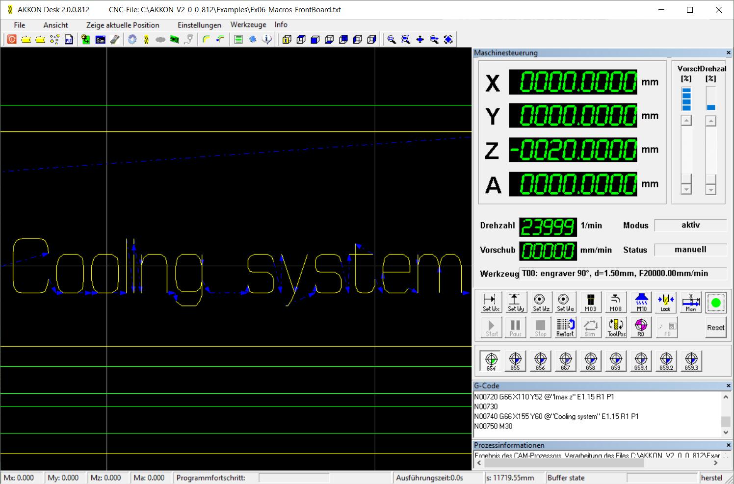 AKKONDesk G66 - internal font